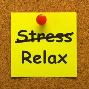 Relax Note Showing Less Stress And Tense